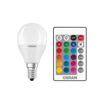 LED lamp 5,5W E14 RGBW pirn + pult
