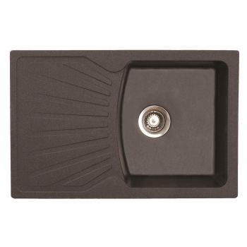 4743277021069 Graniit köögivalamu Aqualine QuadroPlus 770 x 500 mm, grafiit/must