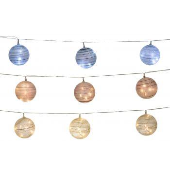 Valguskett LED-dekoratiivkuulid 6tk