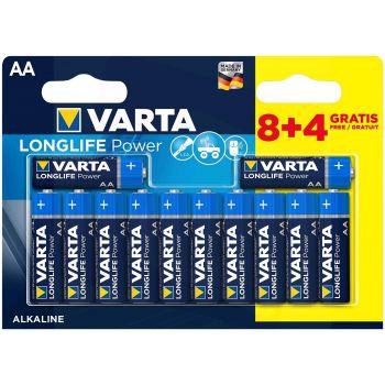 Patarei Varta LongLife Power AA/LR6  8+4-pakk 4008496659234