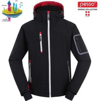 Softshell jakk kapuutsiga Pesso Acropolis must XL