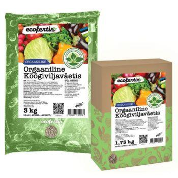 Väetis Ecofertis orgaaniline köögiviljadele 3kg 4745090020731