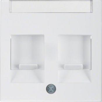 TV+arvuti pesa Berker 2-ne valge S.1 4741131101278