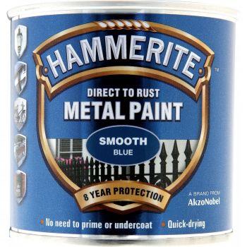 Metallivärv Hammerite Smooth, läikivsile pind, 750ml, sinine