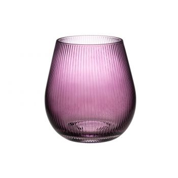 Lillevaas Passion klaasist 15,5cm roosa
