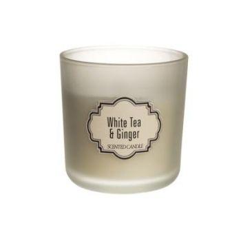 Küünal lõhna klaastopsis Valge tee ja Ingver