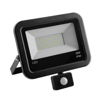 Prozektor LED 50W liikumisanduriga must 880-50S