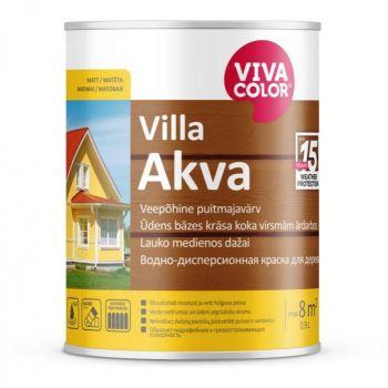Veepõhine puitmajavärv Vivacolor Villa Akva C 0,9L