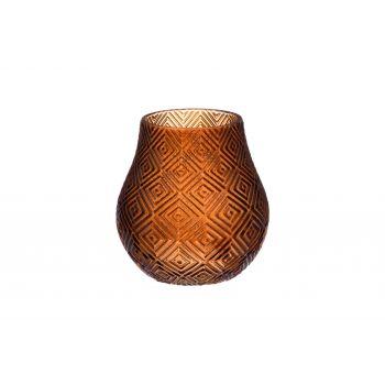 Lillevaas klaasist 16cm pruun