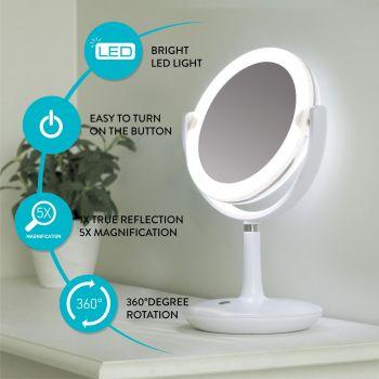 Jumestuspeegel LED valgustusega, pöörlev 4742943020535