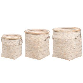 Korv Fanni bambusest 29x29x33cm 6410413080744