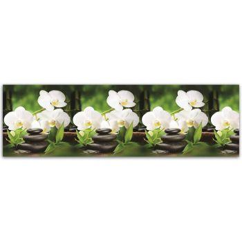 Köögitagaseina dekoratiivplaat 018 valge orhidee 4603739775018