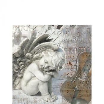 Salvrätik ingel 25x25cm 8712159147704