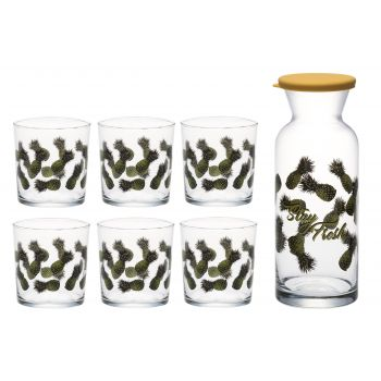 Karahvin Kaktused + 6 klaasi