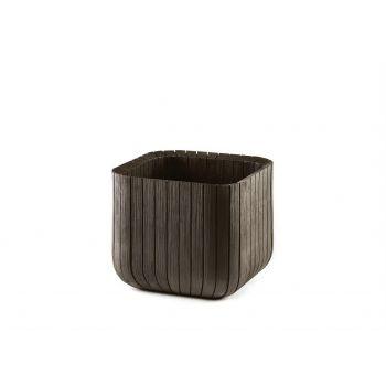 Lillepott Cube Planter pruun