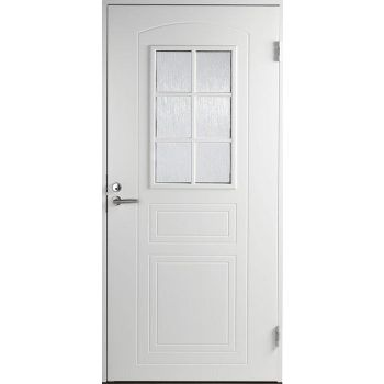Välisuks Basic B0020 9x21 parempoolne valge