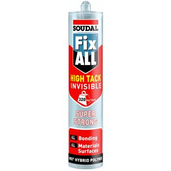 Liimhermeetik Soudal Fix ALL High Tack Invisible 290ml