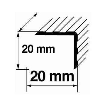 Nurgaliist A14 0,9m 20x20mm pronks