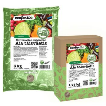 Väetis Ecofertis orgaaniline taimse koostisega aiaväetis 4kg veganitele 4745090020472