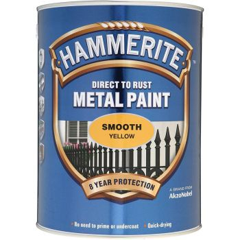 Metallivärv Hammerite Smooth, läikivsile pind, 750ml, kollane