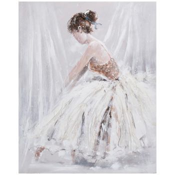 Pilt õlimaal 80x100cm naine valges kleidis