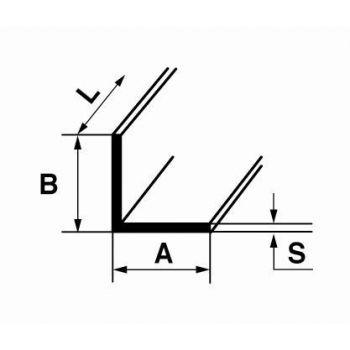 L-profiil B6 1m 25x25x1,5mm hõbe alumiinium 4750492215845