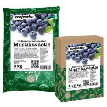 Orgaanilis – mineraalne väetis mustikatele Ecofertis 1kg 4745090027006