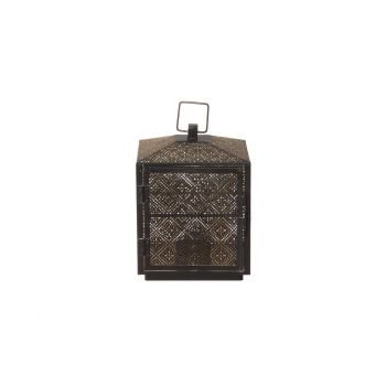 Latern Amber metallist 21,5cm pruun