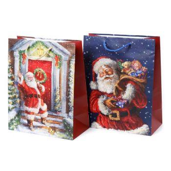 Kinkekott Jõuluvana 51x71x18cm valik