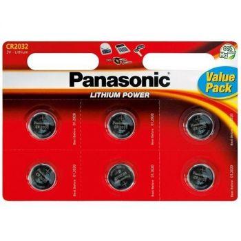 Patarei Panasonic CR2032 liitium  6-pakk 5410853043836