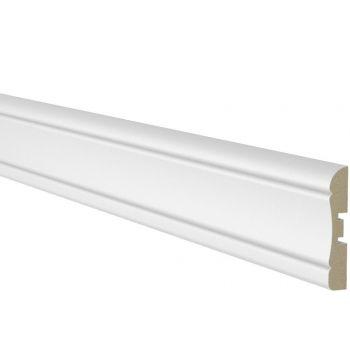 Ukseliist 12x70mm 2,2m MDF valge profiil 1 4740538014099