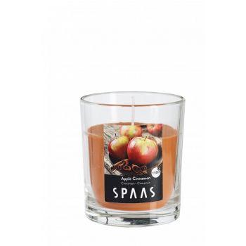 Lõhnaküünal klaasis läbipaistev 25h õun-kaneel