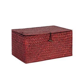 Karp Petra-2 kaanega 30x18xH14cm punane