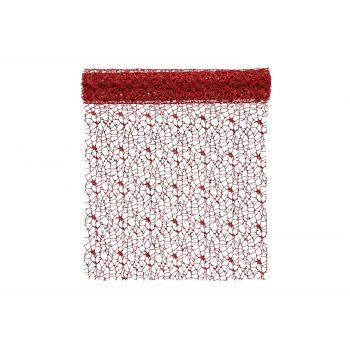 Laudlinik Võrk punane 40x250cm 6410413193154