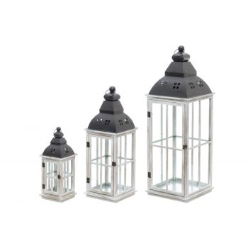 6410413085152 Latern Moa puit 17x45cm hall