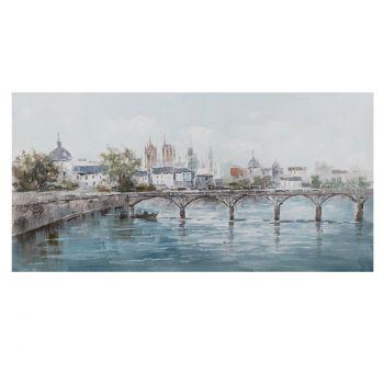Pilt õlimaal 70x140cm linn jõe ääres 4741243840850