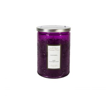 Küünal klaasis Romantic Times H11cm lilla