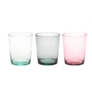 Lillevaas Sumu klaasist 17cm roosa/hall/läbipaistev