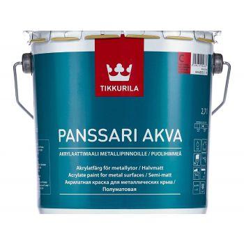 Veepõhine plekk-katusevärv Tikkurila Panssari Akva A 2,7L