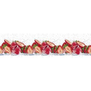 Köögitagaseina dekoratiivplaat 124 maasikad 4603739775124