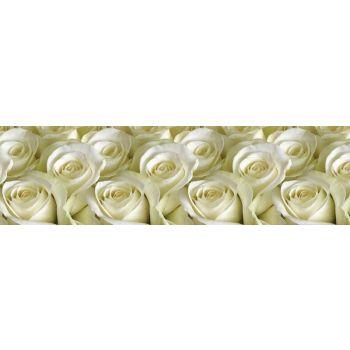 Köögitagaseina dekoratiivplaat 117  valged roosid 4603739775117