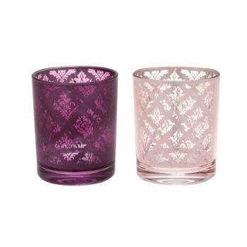 Küünlatops Romance 8,5cm roosa/lilla 6410413198906