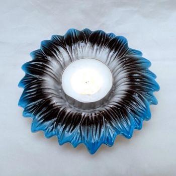 Lill-küünlaalus (sini-must-valge)  4740520017824