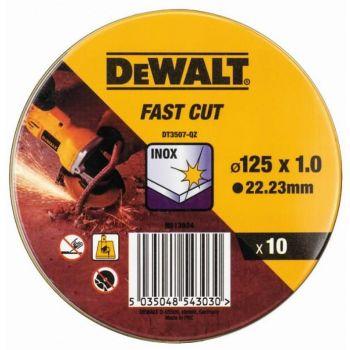 Lõikeketas DeWalt 125x1mm 10tk inox 5035048543030