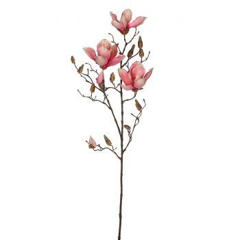 Kunstlill Magnolia roosa 88cm