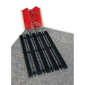 Porirest 67x30cm harjad ja harjasmatt metall vahelippidega