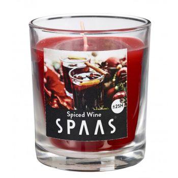 Lõhnaküünal klaasis 70mm 25h hõõgvein