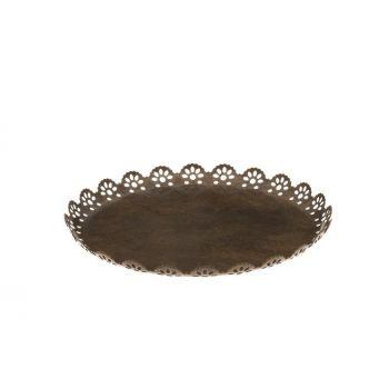 Küünlaalus Pits äärtega 18cm antiik 6410413222892