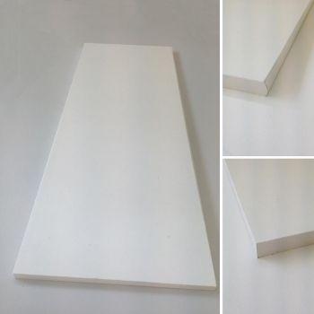 Mööbliplaat valge ümarkant 2600x400x19mm
