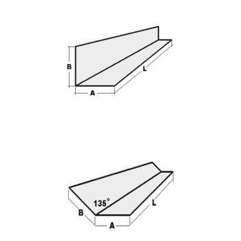 Nurgaprofiil H50/50 3,0m